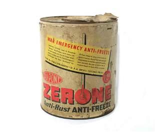WW2 Dupont War Emergency Anti-Freeze 5 Gallon Can