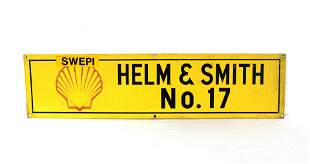 Shell Gas, Helm & Smith Metal Sign