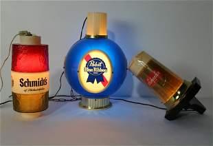 Beer Light Ups Including Pabst Blue Ribbon and Shcaefer