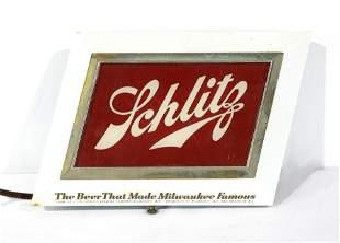 Shlitz Beer Light Up Advertising Sign
