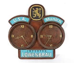 Lowenbrau German Beer Advertising Clock