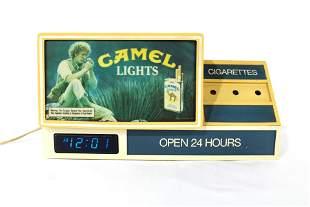 Camel Lights Store Display Clock, 1980s