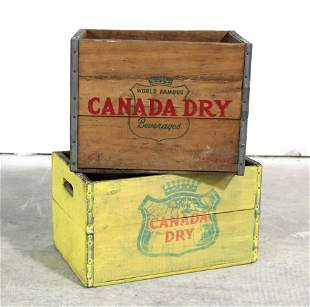 Canada Dry Wooden Bottle Crates