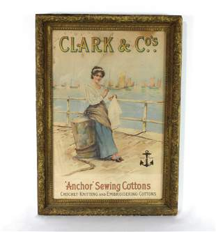 Original Clark & Co. Sewing Cottons Advertisement