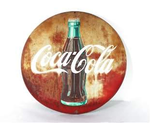 "24"" Coca Cola Button, AM Sign Co."