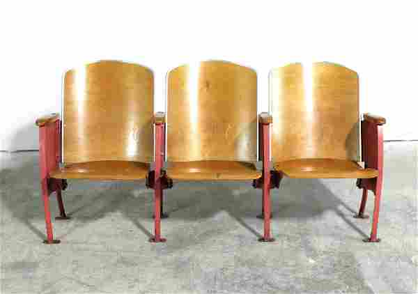 Antique Wooden Theater Seats