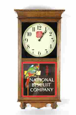 National Biscuit Company Advertising Clock