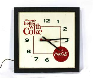 Things Go Better With Coke Coca Cola Clock