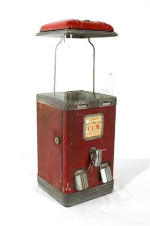 Northwestern Dual Slot Entry Gum Vending Machine