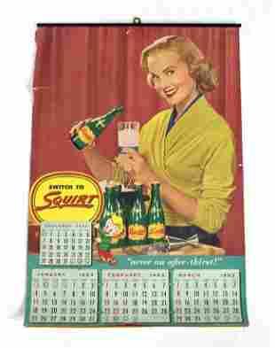 Squirt Soda Advertising Calendar, 1953