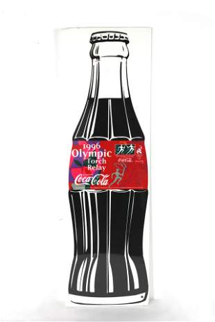 Coca Cola Olympic Relay Promotional Felt Bottle