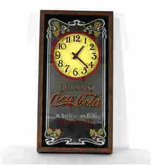Coca Cola Mirrored Advertising Clock