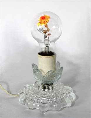 Rose Neon Bulb with Base