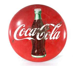 """36"""" Porcelain Coca Cola Button, Lot 2"""