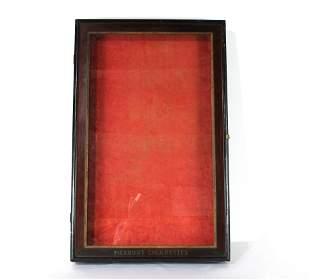 Piedmont Cigarettes Glass Display Case