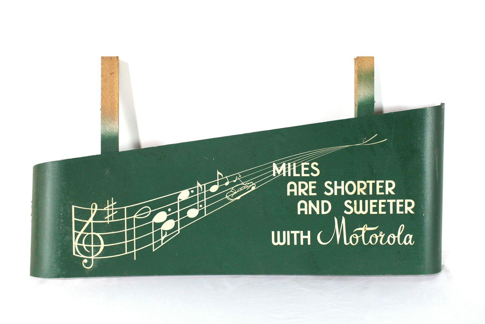 NOS Motorola Store Display Sign