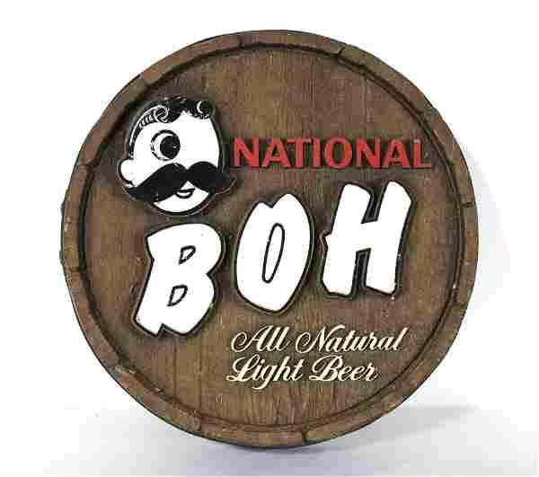 Natty BOH, National Bohemian Baltimore, MD Beer Sign