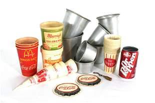 Ice Cream Packing Containers and Soda Memorabilia