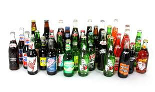 Collection of Vintage and Contemporary Soda Bottles