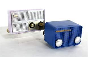 Philco and Motorola AM Radios, 1950s, Painted