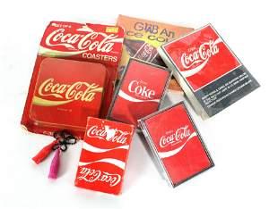 Coca Cola Card Decks, Coasters and Other Memorabilia