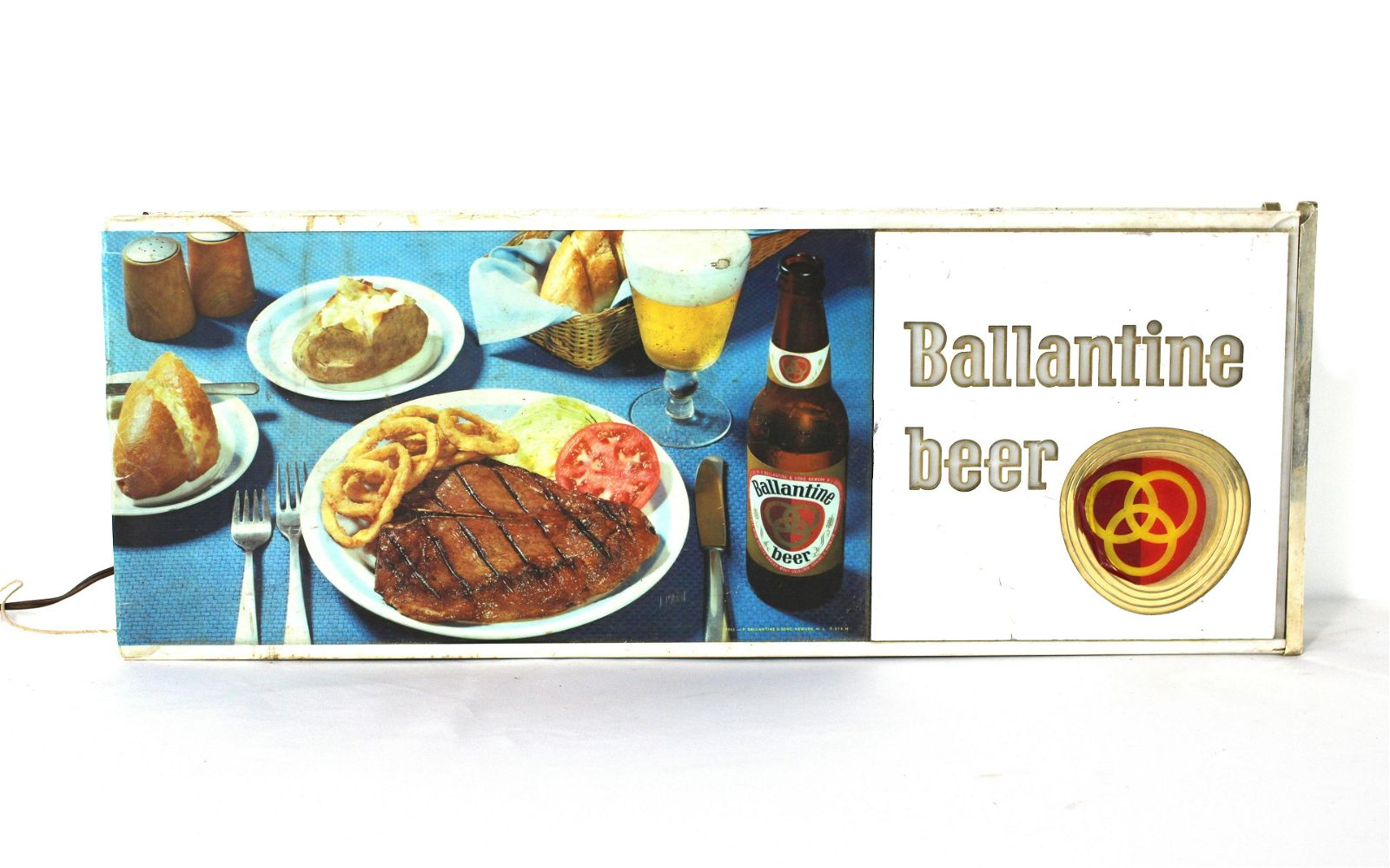 Ballentine Beer Light Up Sign, 1960s