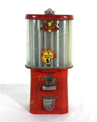 Oak Turnstyle Gum Vending Machine with Key
