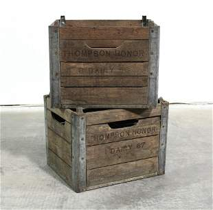 Thompson Honor Dairy Wooden Crates