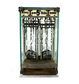 Automatic Clerk Mansfield's Gum Coin Operated Vendor,