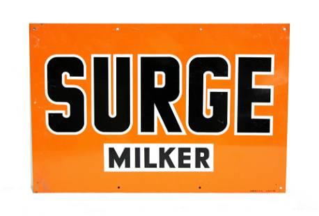 Surge Milker Tin Sign