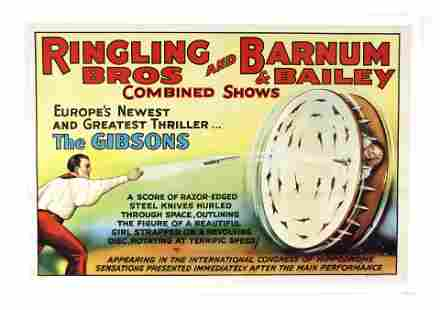 """Ringling / Barnum & Bailey """"The Gibsons"""" Circus Poster"""
