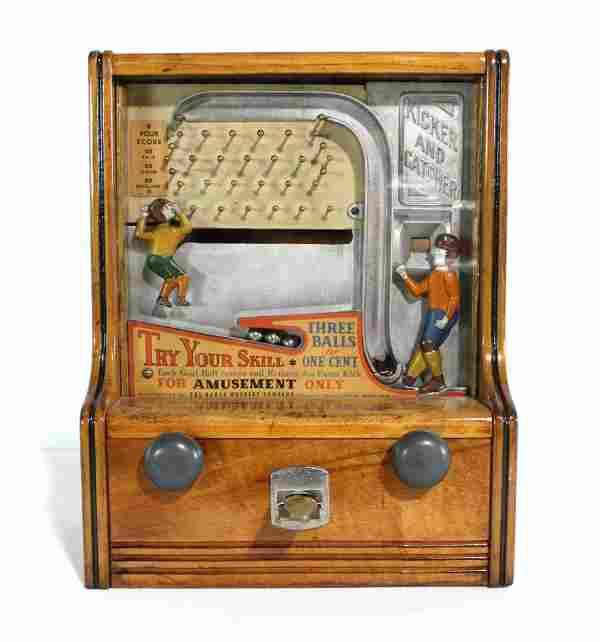 Baker Novelty Kicker and Catcher Coin Op Arcade