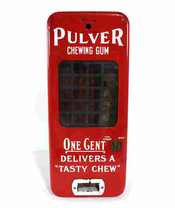 Pulver Yellow Kid Coin Op Gumball Machine