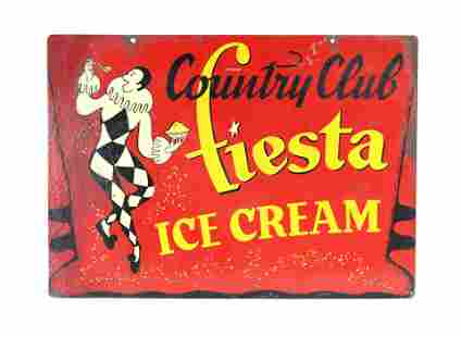 Country Club Fiesta Ice Cream DS Sign