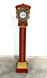 Mutual Automatic Coin Op Cast Iron Penny Scale