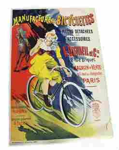 French Bicycle Clown Poster