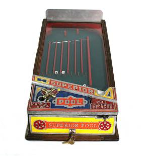 Keeney & Sons Superior Pool Coin Op Arcade