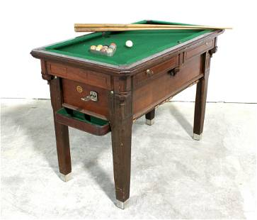 Small Coin Op Pool Table by The Organization Man