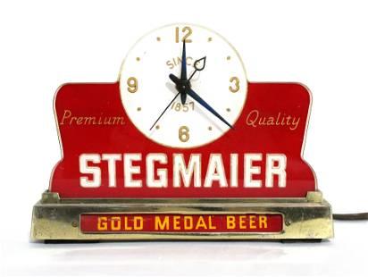 Stegmaier Beer Cash Register Clock