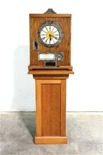 Bryan's 12 Win Clock Nickel Slot Machine on Stand