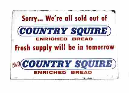 Country Squire Bread Store Flange Sign, 1966