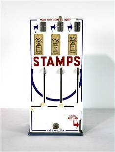 Porcelain Coin Operated Stamp Vendor