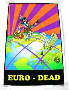Euro-Dead Felt Blacklight Poster