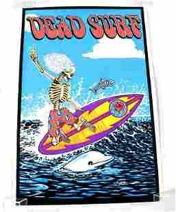 Dead Surf Felt Blacklight Poster #907