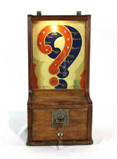 Exhibit Supply 5 Cent Disposition Tester Coin Op, 1940s