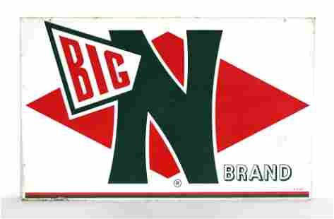 Big N Brand Tin Feed Sign