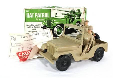 Marx Rat Patrol Set With Accessories, 1960s