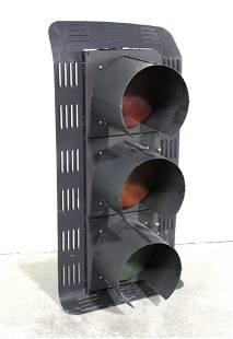 Oversized Metal Traffic Light