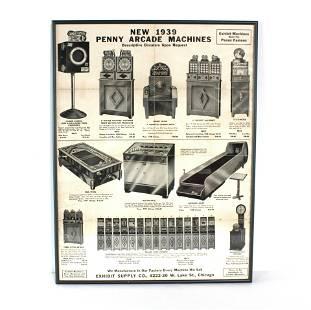 "Exhibit Supply ""1939 Penny Arcade Machines"" Flyer"