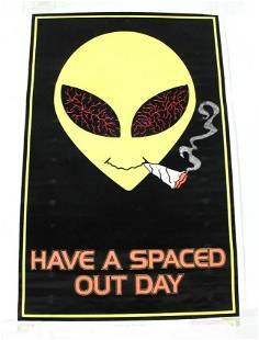 Spaced Out Day Felt Blacklight Poster
